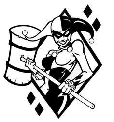 Harley Quinn Batman Vinyl Car Laptop Window Wall Decal - MyMonkeySticker.com