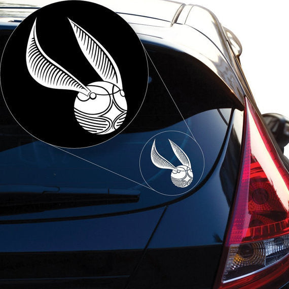 Harry Potter Golden Snitch Vinyl Decal Sticker For Wall Room MacBook Car Vinyl Decal Laptop - MyMonkeySticker.com