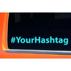 Hashtag # Hash Tag Custom Personalized Your Text Vinyl Decal Sticker Car Truck Laptop Facebook Twitter Instagram Social Media - MyMonkeySticker.com