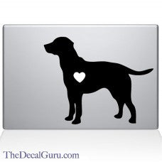 Heart Labrador Retriever Automobile Car Window Decal Tablet PC Sticker Automobile Window Wall Laptop Notebook Etc. Any Smooth Surface - MyMonkeySticker.com