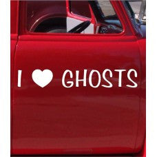 I Love Ghosts Car Automobile Car Window Decal Tablet PC Sticker Automobile Window Wall Laptop Notebook Etc. Any Smooth Surface - MyMonkeySticker.com