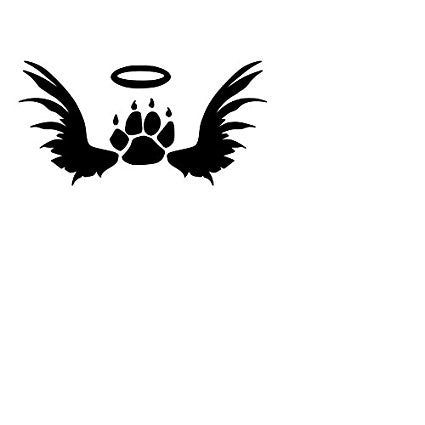 In Memory Of Cat Paw Print  Vinyl Car/Laptop/Window/Wall Decal - MyMonkeySticker.com