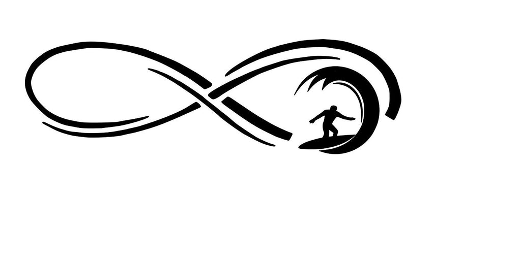 Infinity Surfer Vinyl Car Decal - MyMonkeySticker.com