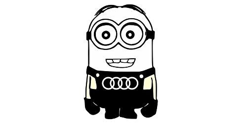 JDM Audi Minion Decal Sticker - MyMonkeySticker.com