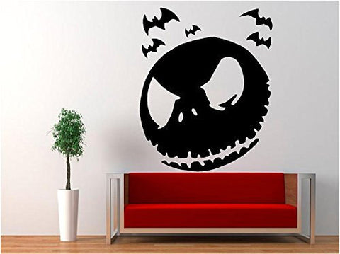 Jack Skellington - Halloween Nightmare Before Christmas Decal Sticker for Window Wall Room Truck Car - MyMonkeySticker.com