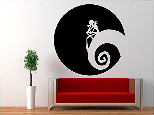 Jack Skellington - Moon Halloween Nightmare Before Christmas Decal Sticker for Window Wall Room Truck - MyMonkeySticker.com