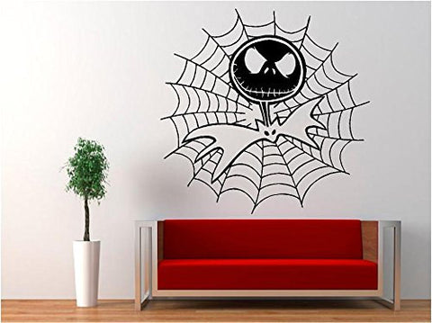 Jack Skellington Cobweb - Nightmare Before Christmas Decal Sticker for Window Wall Room Car - MyMonkeySticker.com