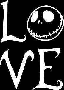 Jack Skellington Love  Vinyl Car Laptop Window Wall Decal - MyMonkeySticker.com