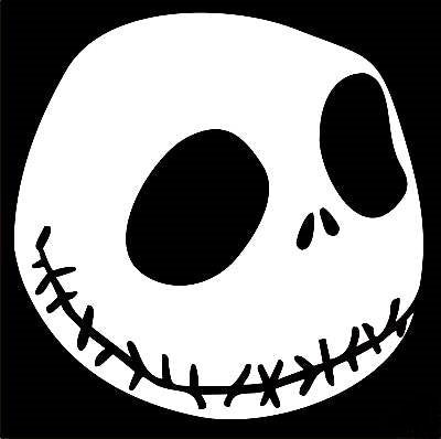 Jack Skellington Nightmare Before Christmas  Vinyl Car/Laptop/Window/Wall Decal - MyMonkeySticker.com