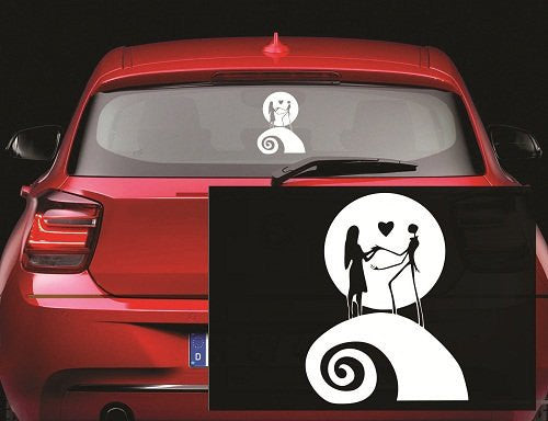 Jack and Sally Moon Nightmare Before Christmas Decal Sticker for Window Car Windows Truck Room - MyMonkeySticker.com