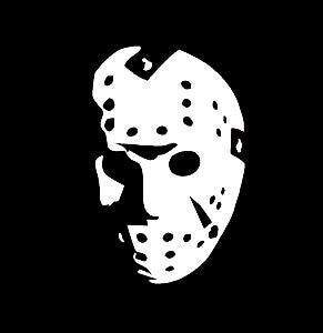 Jason Horror Movie Face  Vinyl Car Laptop Window Wall Decal - MyMonkeySticker.com