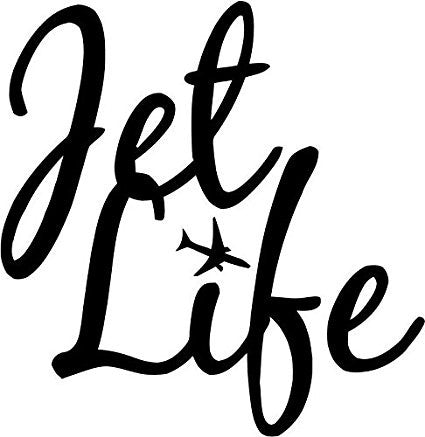 Jet Life Location Travel Car Window Ipad Tableet PC Notebook Cumputer Decal Sticker - MyMonkeySticker.com