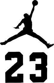 Jordan Jumpman 23 Logo AIR Huge Vinyl Decal Sticker for