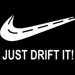 Just Drift Vinyl Car Decal - MyMonkeySticker.com