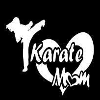 Karate Mom Vinyl Car Decal - MyMonkeySticker.com