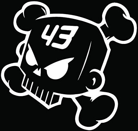 Ken Block Drift Racing Death Skull Crossbones Car Window Ipad Tableet PC Notebook Cumputer Decal Sticker - MyMonkeySticker.com
