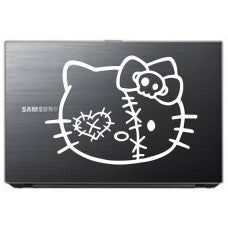 Kitty Kat Zombie Head Automobile Car Window Decal Tablet PC Sticker Automobile Window Wall Laptop Notebook Etc. - MyMonkeySticker.com