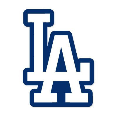 LA Logo Los Angeles Dodgers MLB Vinyl Decal Sticker for wall room car bumper laptop - MyMonkeySticker.com