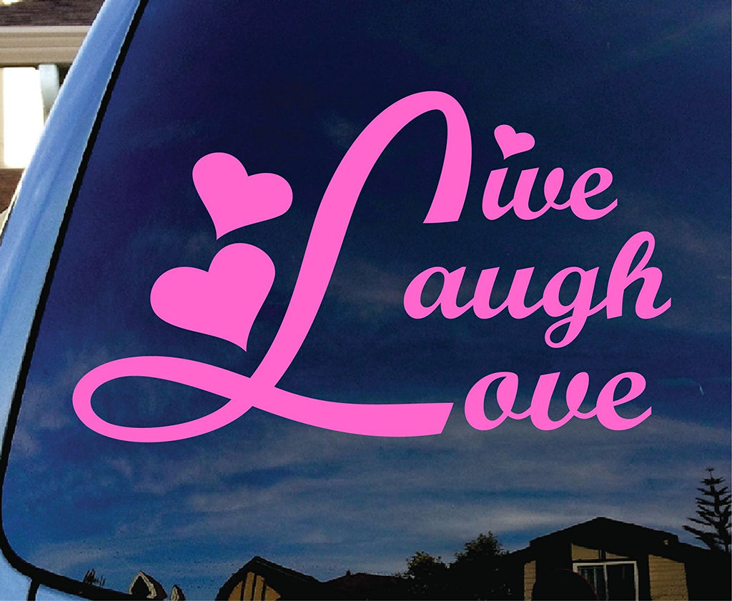 Live Laugh Love Pink Car Window Vinyl Decal Sticker - MyMonkeySticker.com