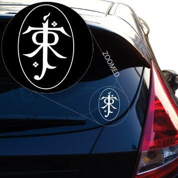 Lord of the Rings Tolkien Decal Sticker for Room Car Window Laptop Pc - MyMonkeySticker.com