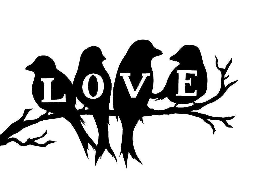 Love Birds  Vinyl Car/Laptop/Window/Wall Decal - MyMonkeySticker.com