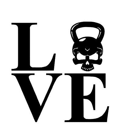 Love Evil Kettlebell Crossfit  Vinyl Car/Laptop/Window/Wall Decal - MyMonkeySticker.com