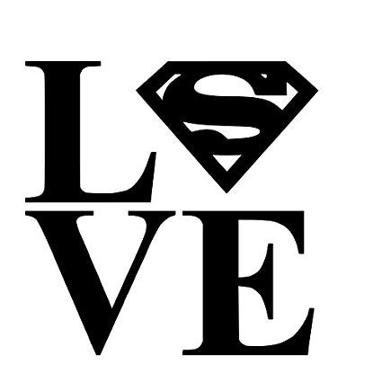 Love Superman Vinyl Car/Laptop/Window/Wall Decal - MyMonkeySticker.com