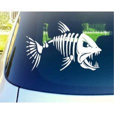 Mad Fish Bones Automobile Car Window Decal Tablet PC Sticker Automobile Window Wall iphone Laptop Notebook Ipad macbook pro apple Etc. - MyMonkeySticker.com