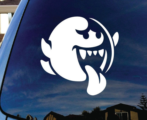 Mario Brothers Boo Decal Sticker for Car Window wall room laptop - MyMonkeySticker.com