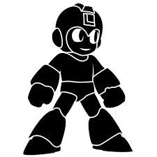 Mega Man Smiling Vinyl Car/Laptop/Window/Wall Decal - MyMonkeySticker.com