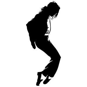 Michael Jackson Silhouette Vinyl Car/Laptop/Window/Wall Decal - MyMonkeySticker.com