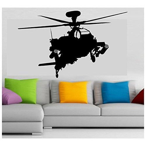 Military Apache Attack Army Helicopter vinyl sticker wall car decal - MyMonkeySticker.com