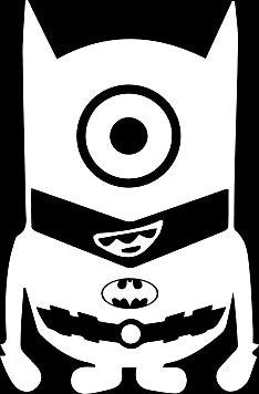 Minions Batman Despicable Me Vinyl Car Decal - MyMonkeySticker.com