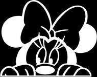 Minnie Mouse Peeking Laptop Vinyl Car Decal - MyMonkeySticker.com