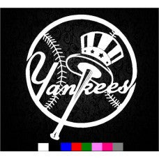 NY Yankees Sticker MLB baseball sport Logo Wall or CAR Decal various colors - MyMonkeySticker.com
