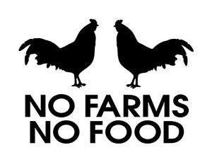 No Farms No Food  Vinyl Car/Laptop/Window/Wall Decal - MyMonkeySticker.com