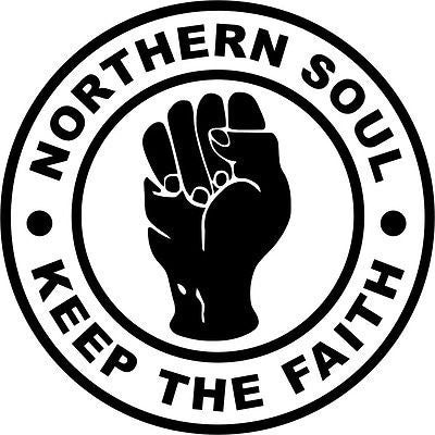 Northern Soul hand Vinyl Car/Laptop/Window/Wall Decal - MyMonkeySticker.com