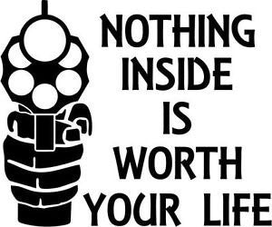 Nothing Inside Worth Dying For  Vinyl Car/Laptop/Window/Wall Decal - MyMonkeySticker.com