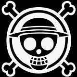 One Piece Monkey Skull Crossbones Anime  Vinyl Car/Laptop/Window/Wall Decal - MyMonkeySticker.com