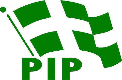 PIP logo Sticker Calcomania Politica PR Partido Independentista Puertorriqueño Automobile Car Window Decal Tablet PC Window Wall Laptop Any Smooth Surface - MyMonkeySticker.com