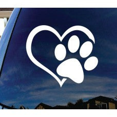Paw in Heart Love Automobile Car Window Decal Tablet PC Sticker Automobile Window Wall iphone Laptop Notebook Ipad macbook pro apple Etc. - MyMonkeySticker.com