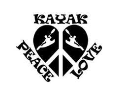 Peace Love Kayak  Vinyl Car/Laptop/Window/Wall Decal - MyMonkeySticker.com