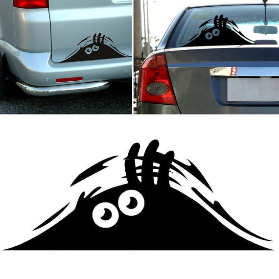 Peeking Monster Funny Scary Eyes Decal Sticker for Car Walls Windows Graphic Vinyl Car - MyMonkeySticker.com