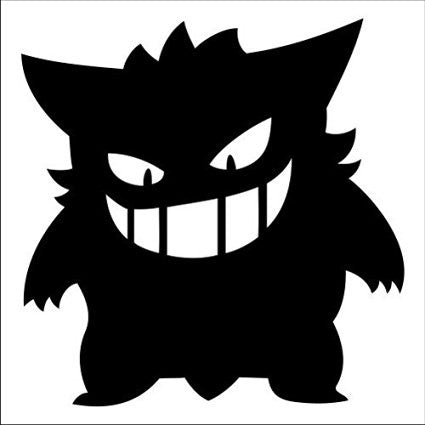 Pokemon Gengar body Vinyl Car Laptop Window Wall Decal - MyMonkeySticker.com