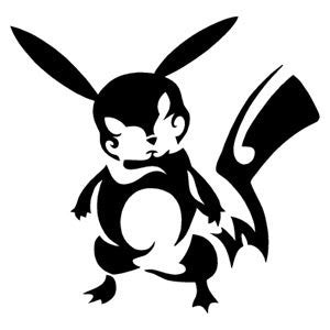 Pokemon Tribal Pikachu  Vinyl Car/Laptop/Window/Wall Decal - MyMonkeySticker.com