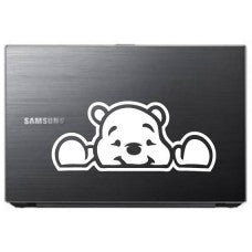 Pooh Bear Peeking (Style#2) Tablet Decal Sticker Laptop cover Macbook Pro Apple Wall Design Decal Keyboard Design Decal Sticker Vinyl Decal - MyMonkeySticker.com