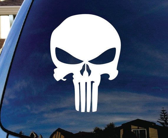 Punisher Skull logo Decal Sticker Vinyl Decorative for Wall Car Ipad Macbook Laptop - MyMonkeySticker.com