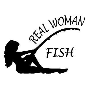 Real Woman Fish  Vinyl Car/Laptop/Window/Wall Decal - MyMonkeySticker.com