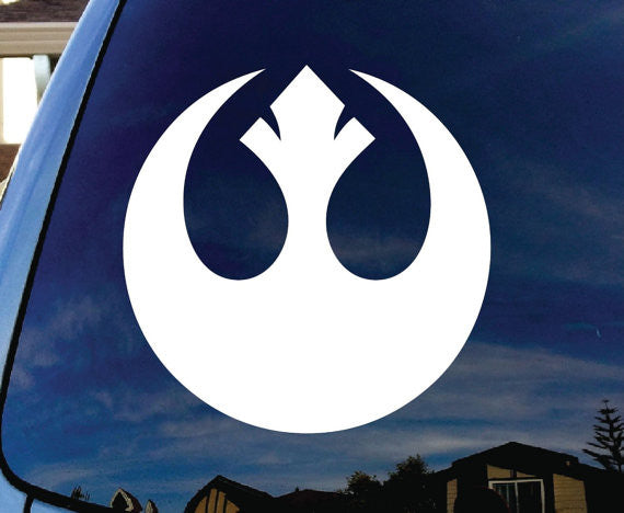 Rebel Alliance Star Wars Car Window Vinyl Decal Stickerl - MyMonkeySticker.com