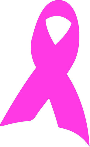 Pink Breast Cancer Awareness Ribbon Decal Sticker For Car Windows Laptop, book, wall, Room, Truck - MyMonkeySticker.com